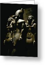 A Statue Of Pharoh Menkaura Greeting Card by Kenneth Garrett