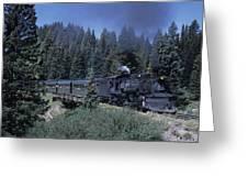 A Steam Engine Chugs Through A Mountain Greeting Card