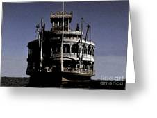 A Steamboat Coming Greeting Card