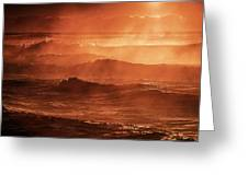 A Steaming Sunrise Over Black Sea  Greeting Card
