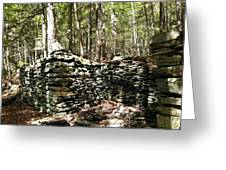 A Stone Structure In The Berkshire Hills Greeting Card