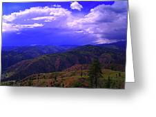 A Storm Coming In  Greeting Card