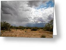 A Stormy Desert Sky Greeting Card