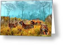 A Streak Of Tigers Greeting Card