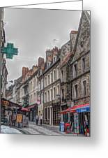 A Street In Boulogne Greeting Card
