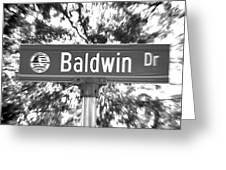 Ba - A Street Sign Named Baldwin Greeting Card