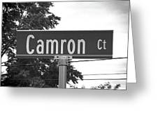 Ca - A Street Sign Named Camron Greeting Card