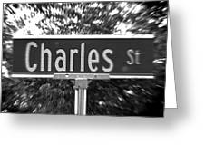 Ch - A Street Sign Named Charles Greeting Card