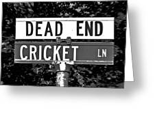 Cr - A Street Sign Named Cricket Greeting Card