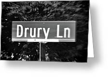Dr - A Street Sign Named Drury Greeting Card