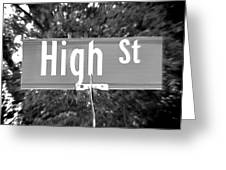 Hi - A Street Sign Named High Greeting Card