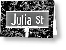 Ju - A Street Sign Named Julia Greeting Card