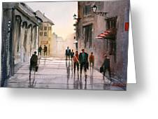 A Stroll In Italy Greeting Card
