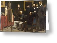 A Studio At Les Batignolles 1870 Greeting Card
