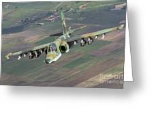 A Sukhoi Su-25s Of The Bulgarian Air Greeting Card