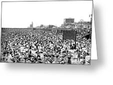 A Summer Day At Coney Island Greeting Card