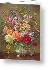 A Summer Floral Arrangement Greeting Card