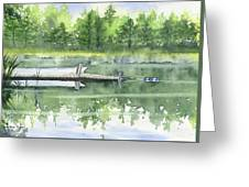 A Summer Pond Greeting Card
