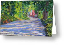 A Summer Road Greeting Card