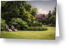 A Summer Sitting Place Greeting Card