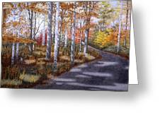 A Sunny Autumn Day Greeting Card