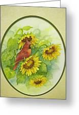 A Sunny Garden Spot Greeting Card