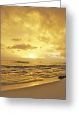 A Sunrise Over Oahu Hawaii Greeting Card