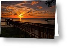 A Sunset At Spanish Wells Greeting Card