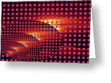 A Sunset In Weave Greeting Card