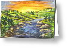 A Sunset In Wine Country Greeting Card