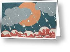 A Sunshine  Rain - Shower Greeting Card