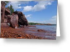 A Superior Red Rock Beach Greeting Card