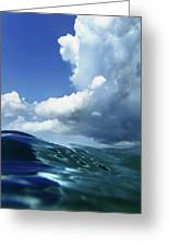 A Surfer's View Greeting Card