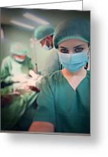 A Surgeon Taking Selfie  Greeting Card