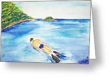 A Swim In Cayos Greeting Card