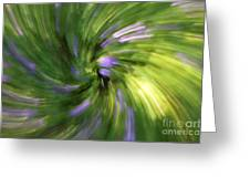 A Swirl Of Color Abstract Greeting Card
