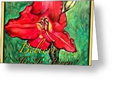 A Symbol Of Hope In The Resurrection Greeting Card