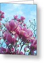 A Symphony Of Magnolia Flowers Greeting Card