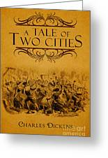 A Tale Of Two Cities Book Cover Movie Poster Art 1 Greeting Card