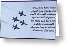 A Taste Of Flight Greeting Card by April Wietrecki Green