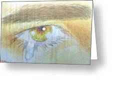 A Teardrop Kissed... Greeting Card