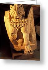 A Temple Winged Lion In The Petra Greeting Card