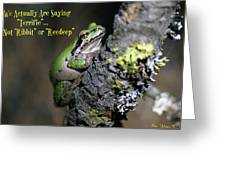 A Terrific Frog #1 Greeting Card