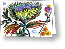 A Thistle Greeting Card