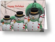 A Three Snowman Holiday Greeting Card