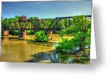 A Time Gone By Railroad Bridge Lumber City Georgia Greeting Card