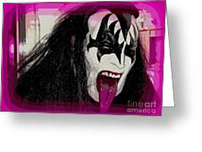 A Tongue Kiss Greeting Card