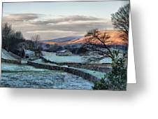 A Touch Of Frost In Swaledale Greeting Card