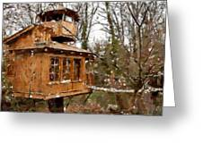 A Treehouse For All Seasons Greeting Card
