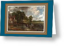 A Tribute To John Constable Catus 1 No. 1 -the Hay Wain L B With Alt. Decorative Ornate Frame. Greeting Card